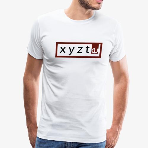xyzte red frame - Men's Premium T-Shirt