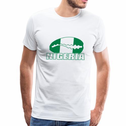 Nigeria national flag with cauri - Men's Premium T-Shirt