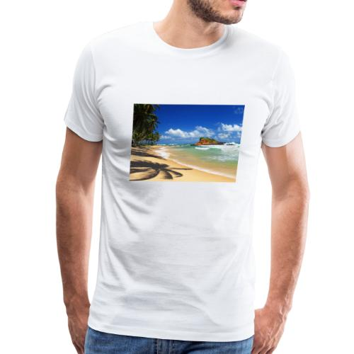 Beach with palm trees, Sri Lanka - Men's Premium T-Shirt