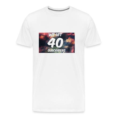Lankydiscmaster's 40 subs shirt and more - Men's Premium T-Shirt