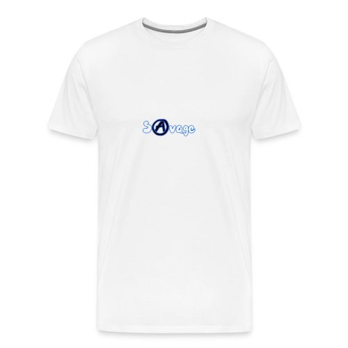 Savage logo (White) - Men's Premium T-Shirt