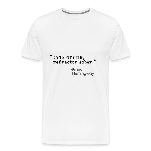 Hemingway coding quote - black - Men's Premium T-Shirt