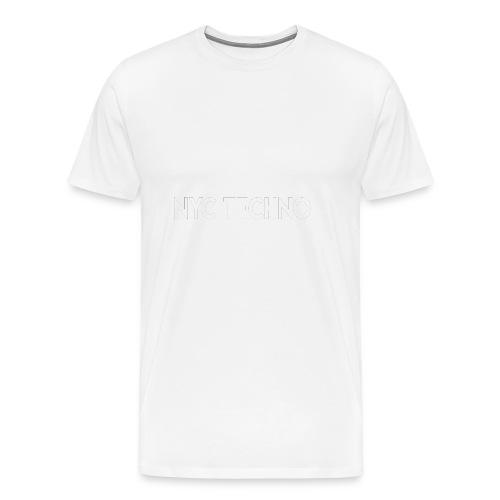 NYC Techno Skyline - Men's Premium T-Shirt