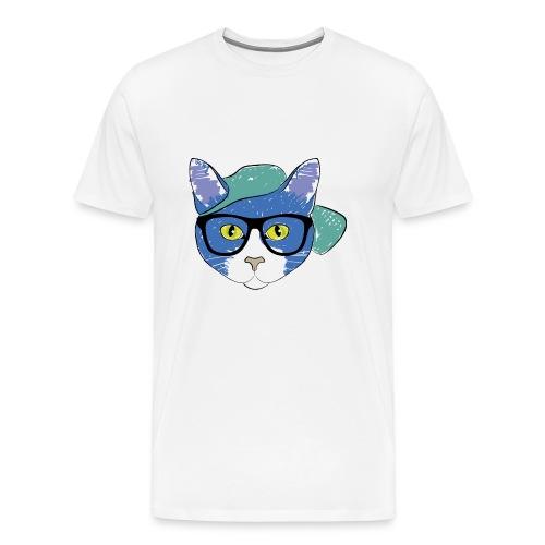 Geek cat - Men's Premium T-Shirt