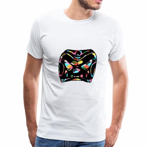 Harlequin / Zanni mask clipart rainbow background - Men's Premium T-Shirt