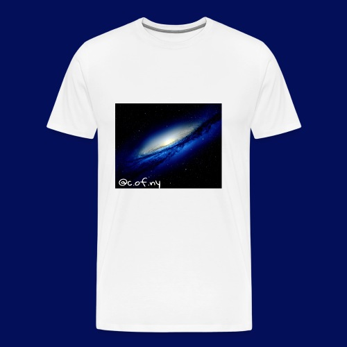Blue Galaxy Explosion - Men's Premium T-Shirt