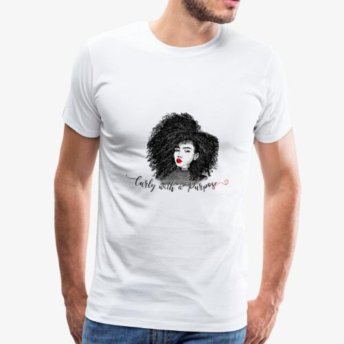 Curly With A Purpose - Men's Premium T-Shirt