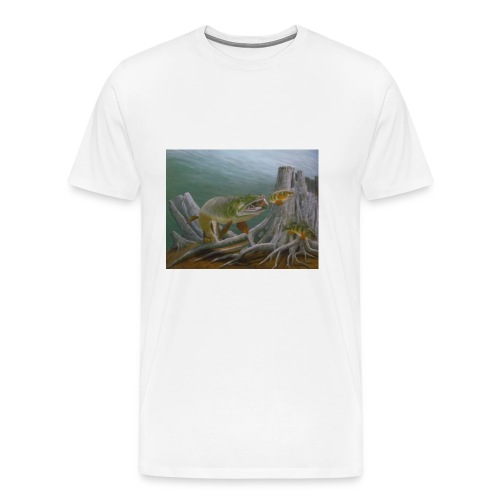 Muskie Attack Mascot - Men's Premium T-Shirt