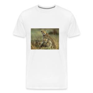 cheetah mother and cubs - Men's Premium T-Shirt