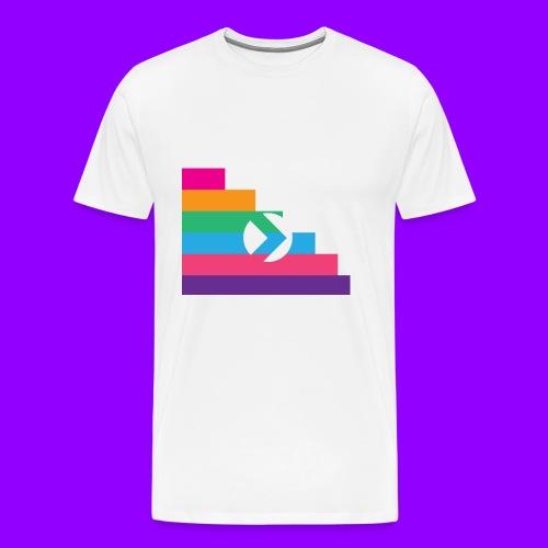 Yibizen Lined Logo Design - Men's Premium T-Shirt