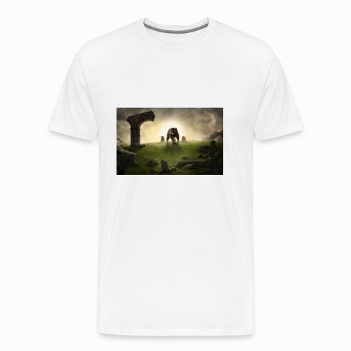 king bear with cubs merchandise - Men's Premium T-Shirt