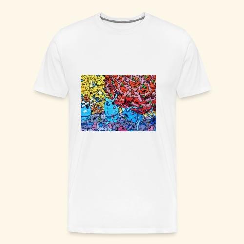 Graffiti Decal - Men's Premium T-Shirt