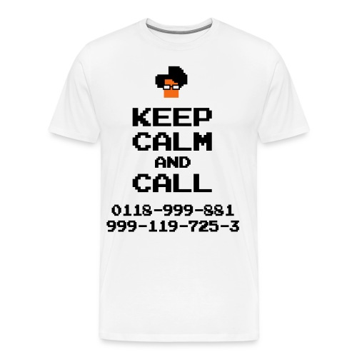 IT Crowd Moss emergency KEEP CALM - Men's Premium T-Shirt