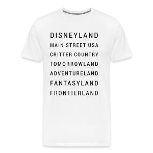 Minimalist Disneyland - Men's Premium T-Shirt