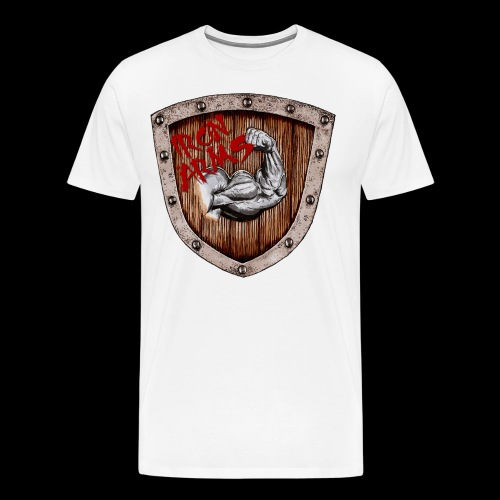 Iron Arms Shield Logo - Men's Premium T-Shirt