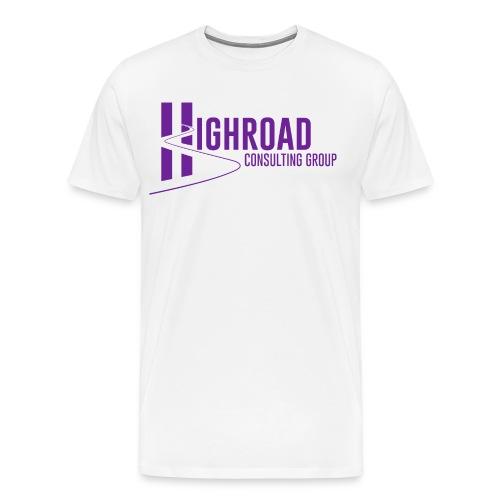 Highroad Logo Overlay Purple - Men's Premium T-Shirt