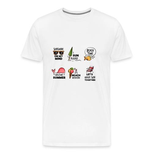 SUMMER HOLIDAY SHIRT - Men's Premium T-Shirt