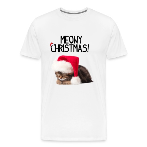 Meowy Christmas! - Men's Premium T-Shirt