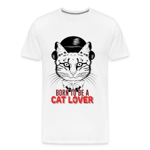 Born to be a cat lover - Men's Premium T-Shirt
