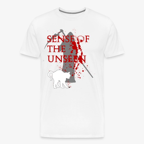 senseoftheunseen-Horror Cat Tshirt - Men's Premium T-Shirt