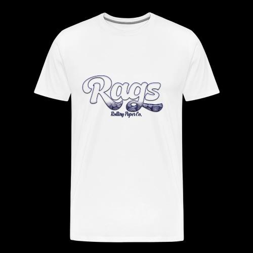 RAGSROLLINGLOGOBLUE - Men's Premium T-Shirt