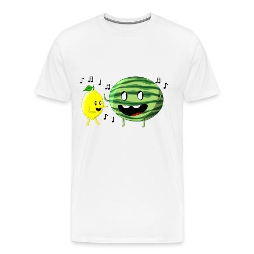 Dancing Lemon and Watermelon - Men's Premium T-Shirt