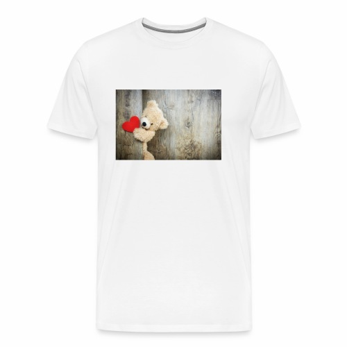 Heart Bear - Men's Premium T-Shirt