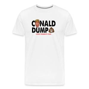 Conald Dump Worst President Ever - Men's Premium T-Shirt