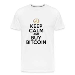 KEEP CALM AND BUY BITCOINS BTC Crypto Shirt - Men's Premium T-Shirt