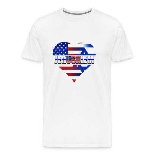 USA IN THE HEART OF JERUSALEM (CAPITAL OF ISRAEL) - Men's Premium T-Shirt