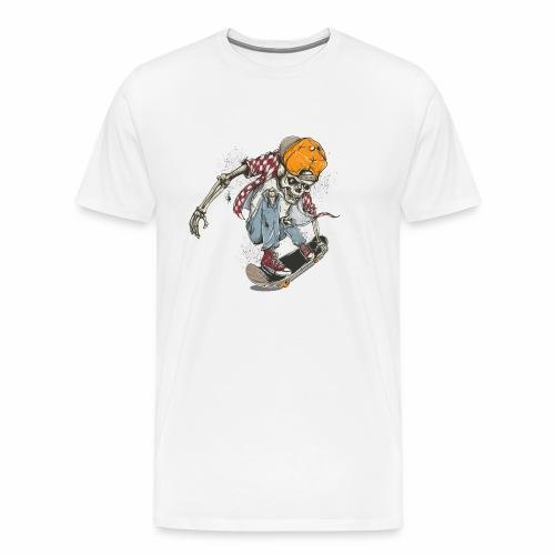 Skeleton Skateboard T-shirt Graphic - Men's Premium T-Shirt