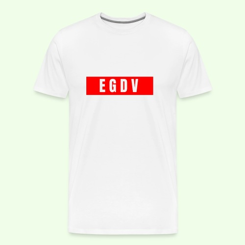 E G D V Red On White Design - Men's Premium T-Shirt