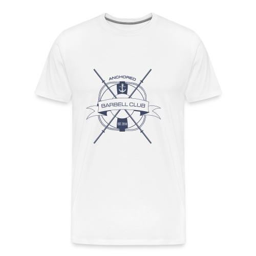 Anchored Barbell Club Blue Logo - Men's Premium T-Shirt