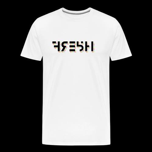 FRE5H Rainbow Hieroglyph Print - Men's Premium T-Shirt