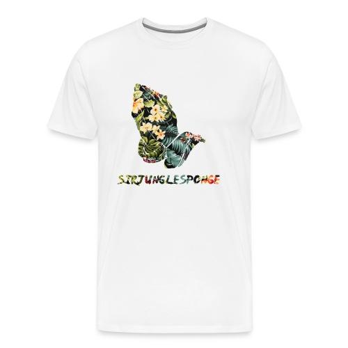 sirjunglesponge floral - Men's Premium T-Shirt