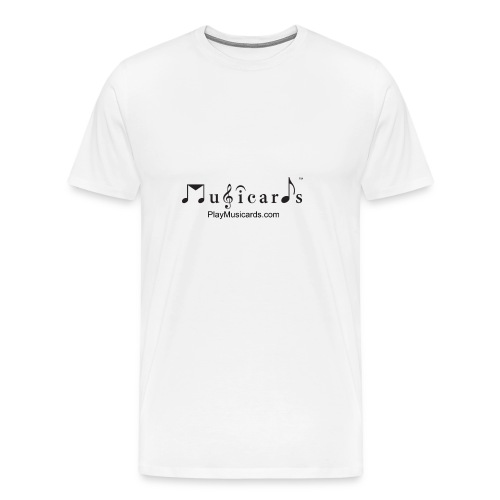 Musicards logo and website - Men's Premium T-Shirt
