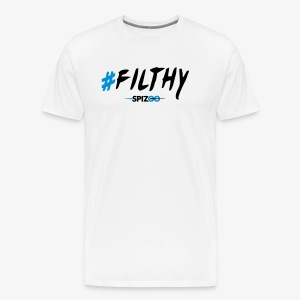 #Filthy white - Spizoo Hashtags - Men's Premium T-Shirt