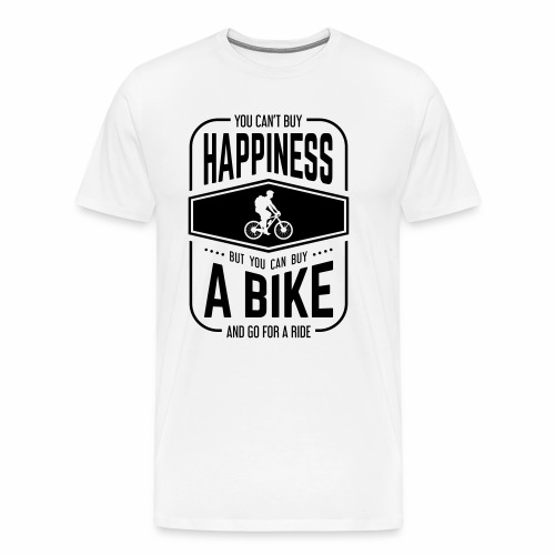 You can't buy happiness but you can buy a bike - Men's Premium T-Shirt