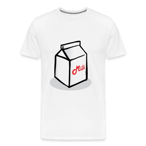 Small animated cartin of milk - Men's Premium T-Shirt