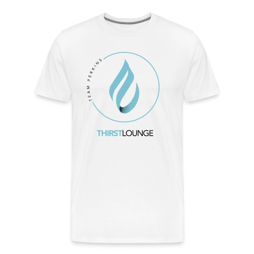 Thirst Lounge Black on White Gradient Design - Men's Premium T-Shirt