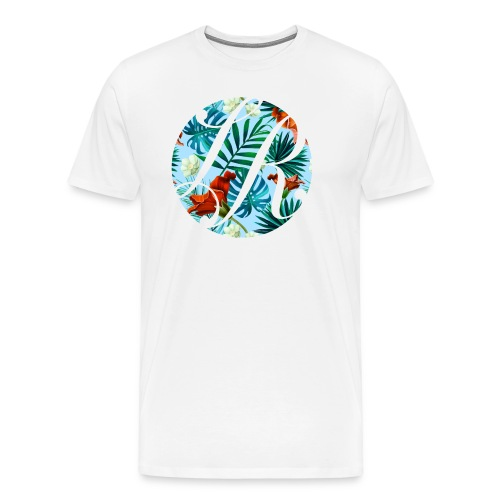 Hawaiian Print Logo - Men's Premium T-Shirt