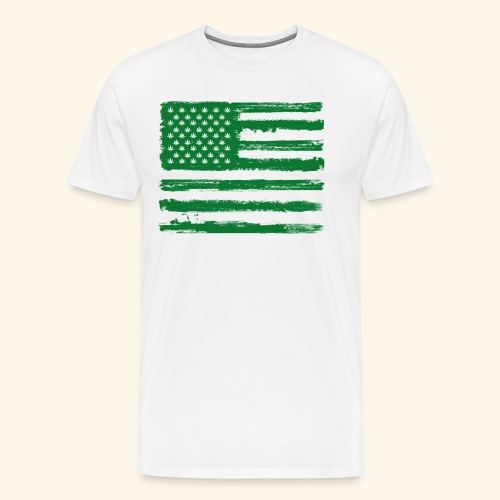 Free Denizens Legalize It US Cannabis Flag - Men's Premium T-Shirt