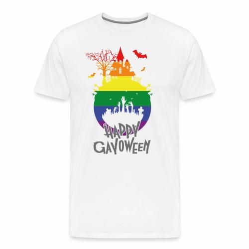 Happy Gayoween LGBT Halloween T-Shirt - Men's Premium T-Shirt