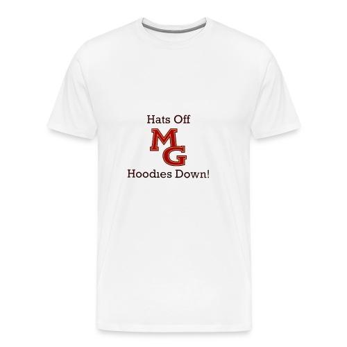 Maple Grove Hats Off Hoodies Down! - Men's Premium T-Shirt