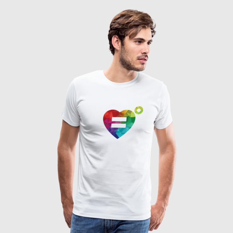 The Rainbow Equality Heart – Love Unlimited - Men's Premium T-Shirt