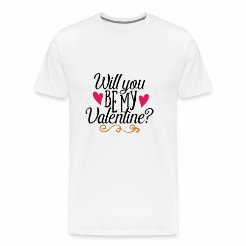 Will You be my Valentine? - Men's Premium T-Shirt