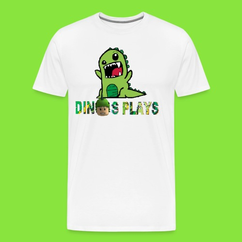 dinos plays - Men's Premium T-Shirt