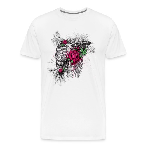 Skeleton Rose - Men's Premium T-Shirt