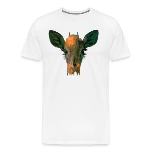 Deer in Forest - Men's Premium T-Shirt