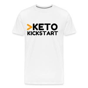Keto Kickstart kaksi rivinen logo - Men's Premium T-Shirt